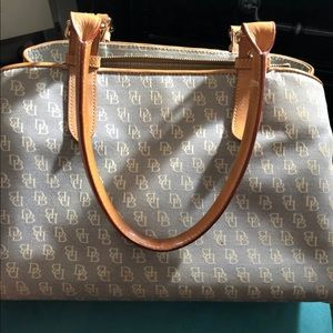 Dooney & Bourke great size Gray & blue . GUC